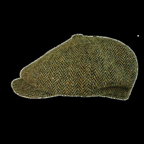 Green Brown Harris Tweed Herringbone 10811