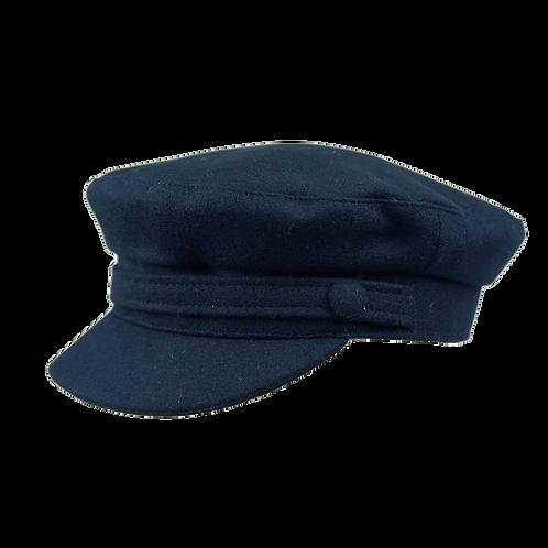 Navy Wool Breton Cap