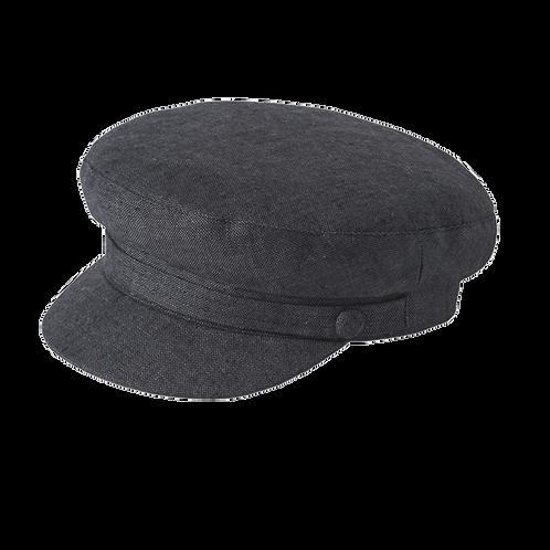 Charcoal Linen Breton Cap