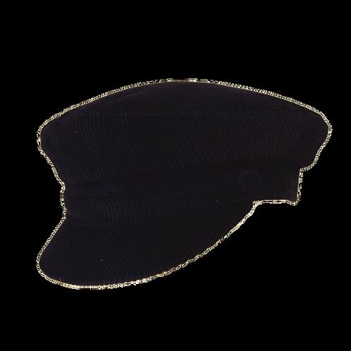 Navy Corduroy Breton Cap