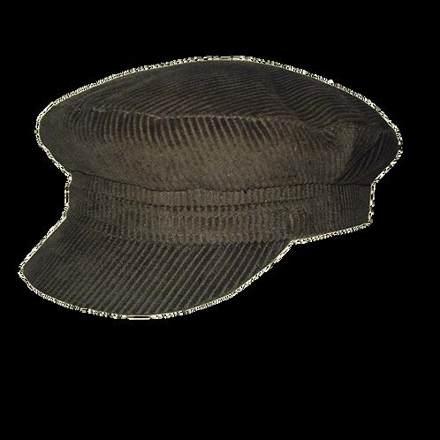 Olive Corduroy Breton Cap