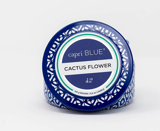Cactus Flower Tin Candle