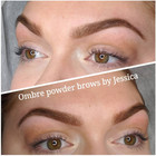 We filled a scar and added a ton of dimension for this natural ombre powder brow 🤗Fresh after the procedure hardly even pink ✨ . . . . .#ombrepowderbrows #glowup #pmu #powderbrows #nanobrows #localatx #atx #esthetician #permanentmakeupstudio #semipermanentmakeup