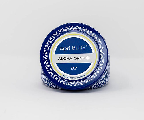 Aloha Orchid Tin Candle