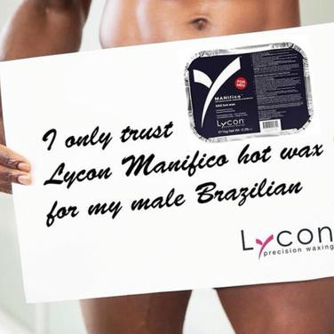 Lycon hard wax made specifically for male clients and manzilian waxes