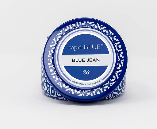 Blue Jean Tin Candle