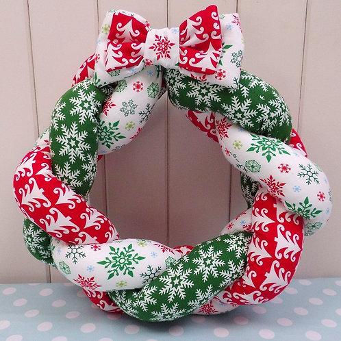 Fabric Christmas Wreath Pattern
