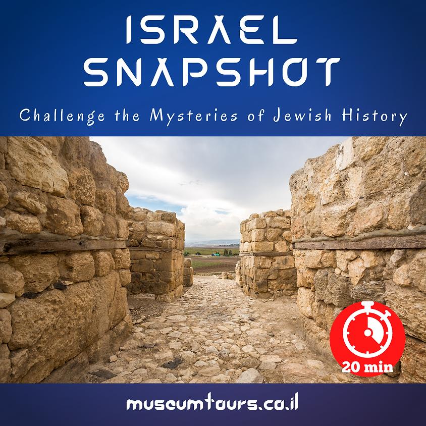 Israel Snapshot : Challenge the mysteries of Jewish history! Megiddo