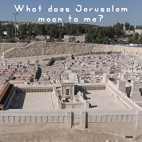 What does Jerusalem mean to me lecture m