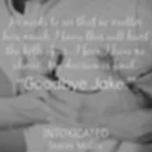 He needs to see that nomatter how much I kno this will hurt the both of us, I fear I hav no choice. My decision is final. Goodbye Jake. Intoxicated book teaser.