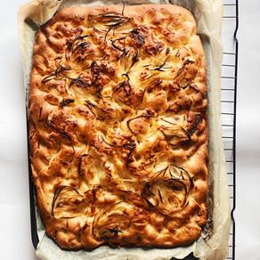 Buttery Onion Focaccia