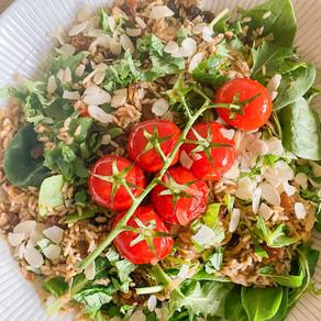 Mediterranean Brown Butter Rice Salad