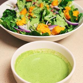 The simplest green goddess salad
