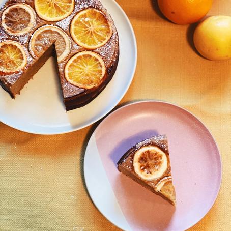 Flourless Whole Orange and Grapefruit Cake