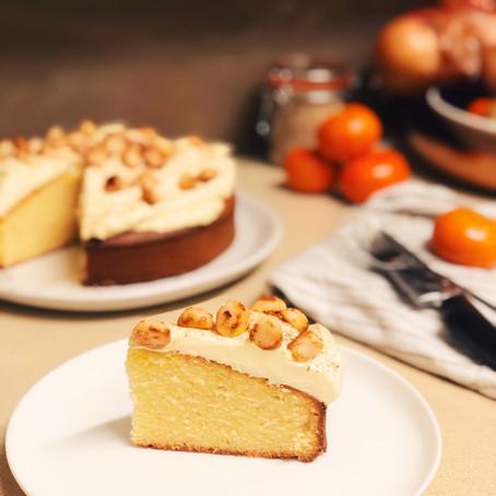 3 Step Mandarin & Macadamia Cake