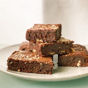 Fudgy Flourless Tahini Brownies