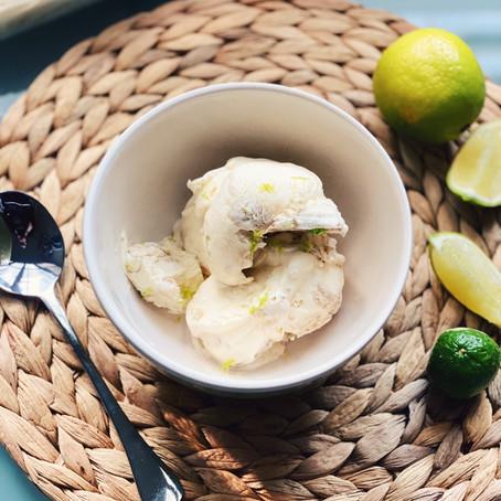 Tahini and Kaffir Lime Ice Cream