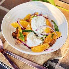 Orange, Mozzarella and Mint Salad
