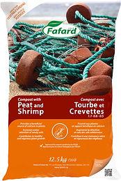 Compost avec tourbe et crevettes