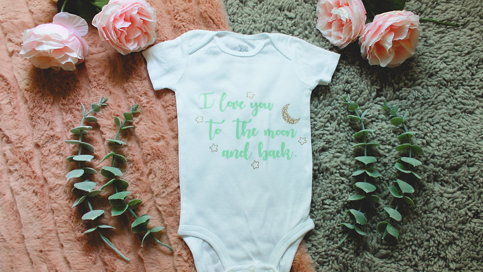 """To the Moon & Back"" Onesie"