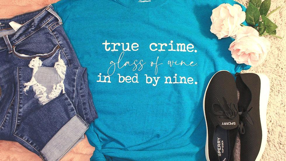 """""""True Crime"""" Adult Tee"""
