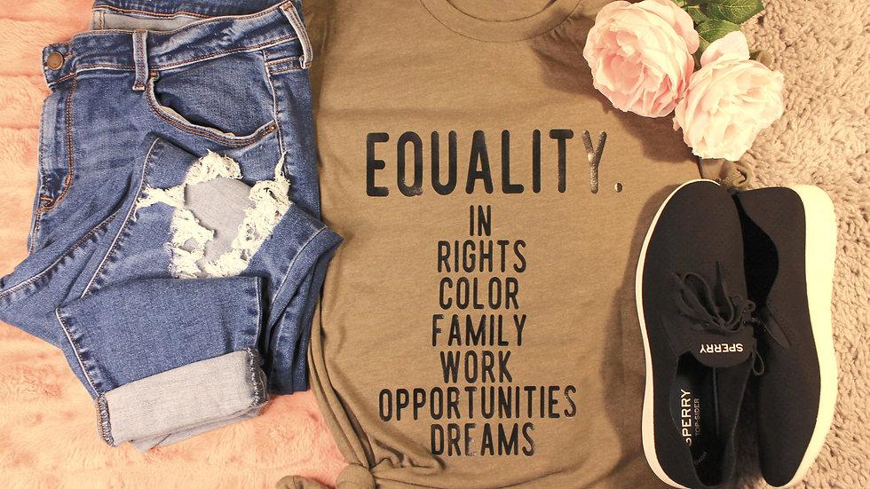 """""""Equality"""" Adult Tee"""