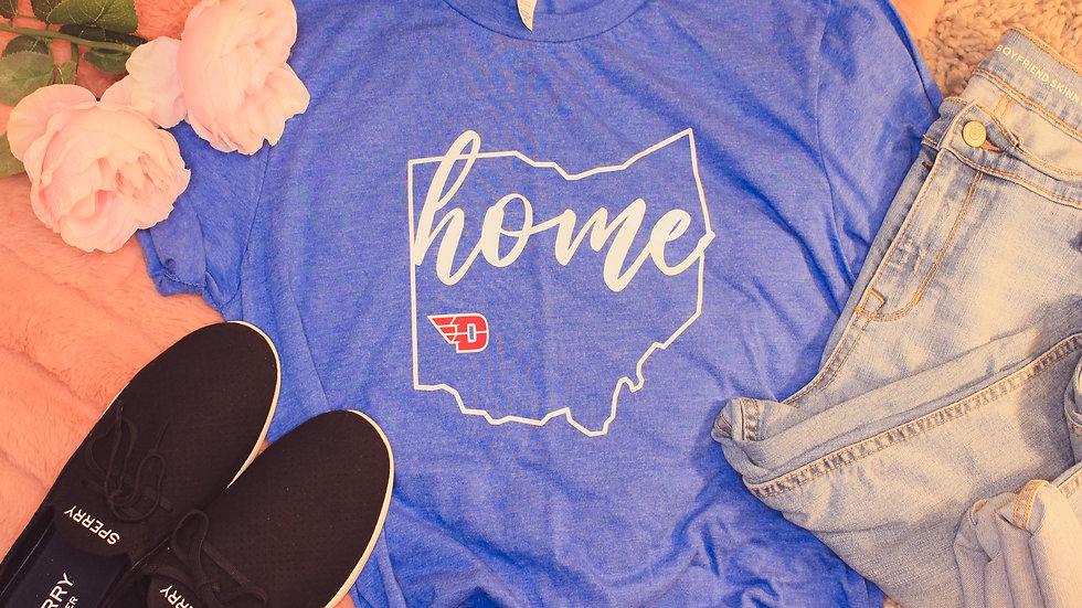 """Home: University of Dayton"" Adult Tee"