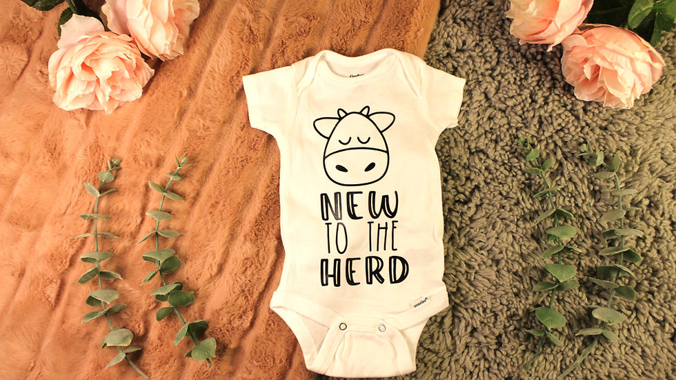 """New to the Herd"" Onesie"
