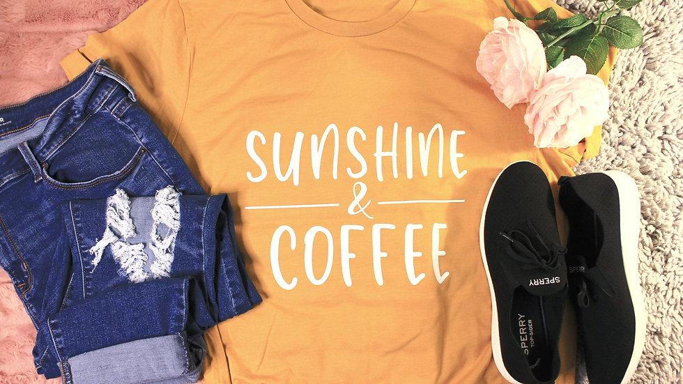 """""""Sunshine and Coffee"""" Adult Tee"""