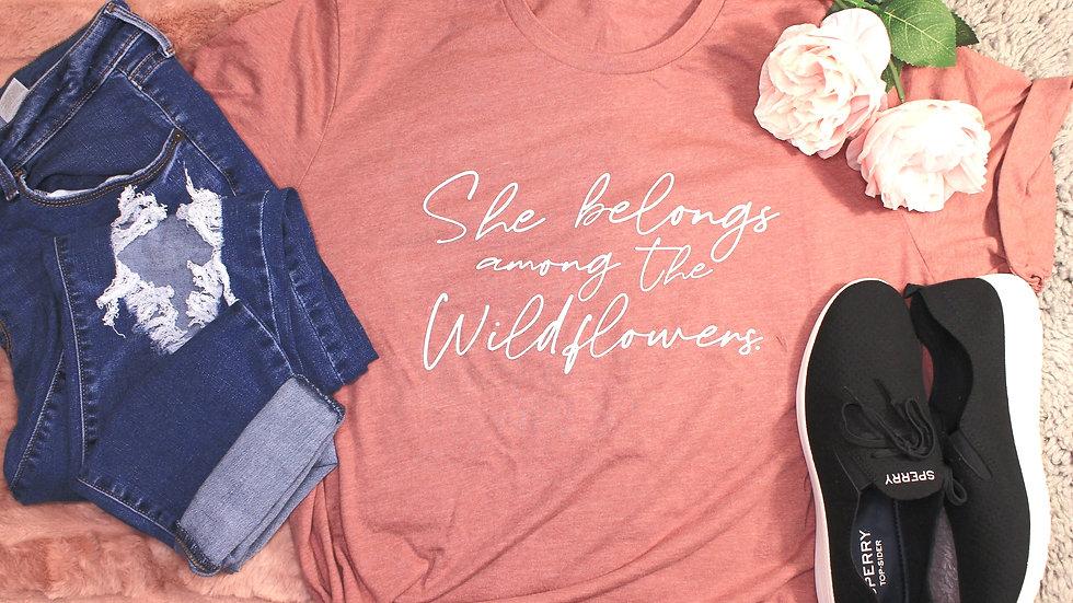 """""""Wildflowers"""" Adult Tee"""