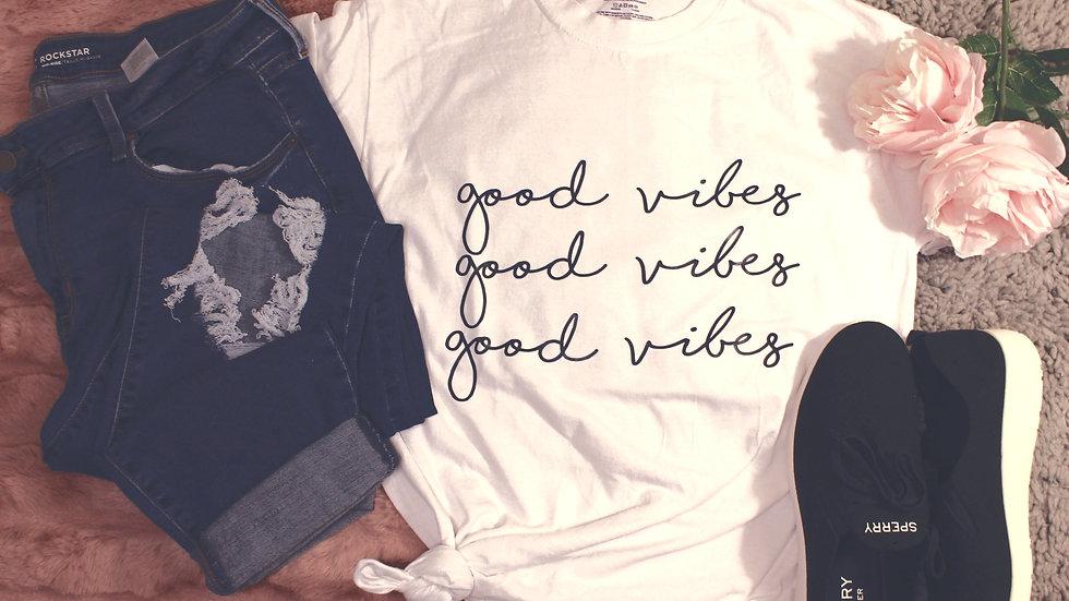 """""""good vibes"""" Adult Tee"""