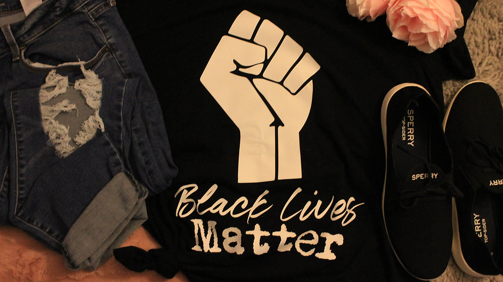 Black Lives Matter - option 2 Adult Tee