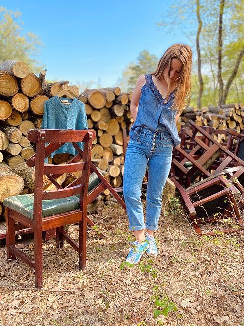 Top COLON bleu jeans
