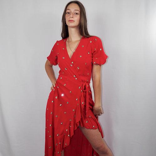 Robe ACAPULCO longue rouge