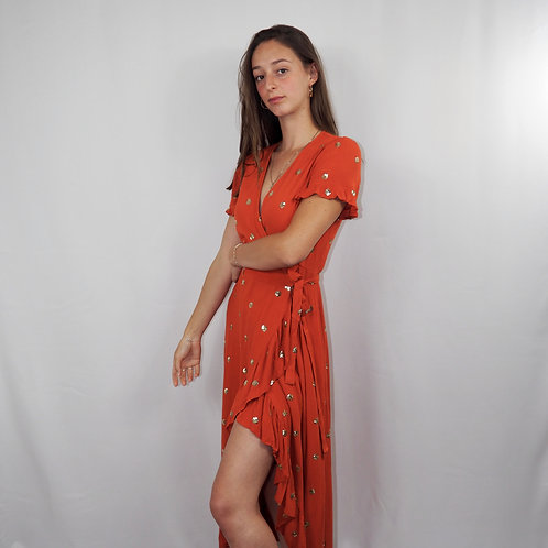 Robe ACAPULCO longue orange
