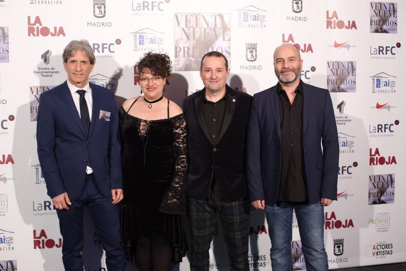 Iñaki Guevara, Luis Ventín y Ana Pavía del Sindicato de Actores de Aragón compañí