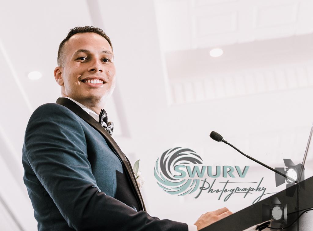 Groom's speech by Swurv Photography