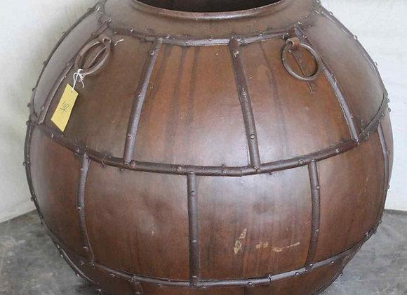 large vintage iron pot