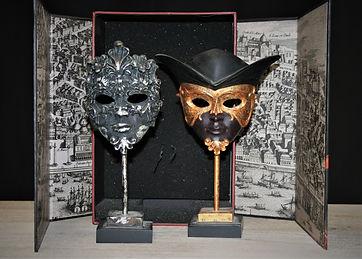 Duke and Duchess of Malfi masks. mc066