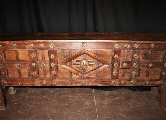 antique carved teak console