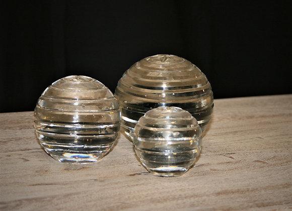 Ring design glass ball set