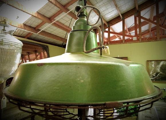 dark green ships gangway lamp