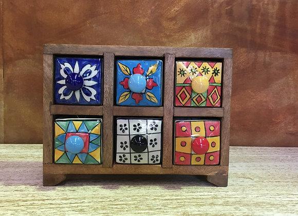 6 Drawer Ceramic Chest