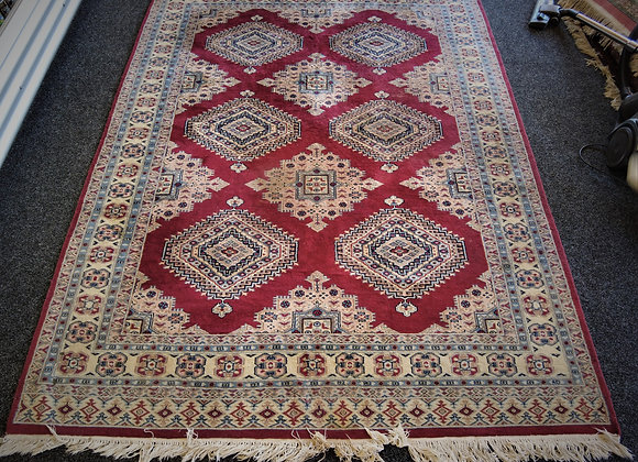 Small hand knotted carpet Pakistan