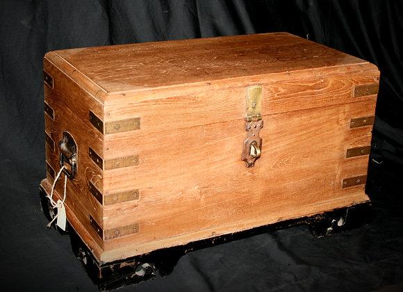 Brass bound trunk