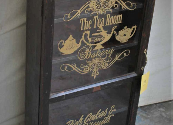 tea room glass front cabinet