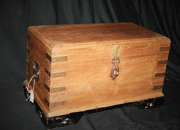 Small Brass teak trunk