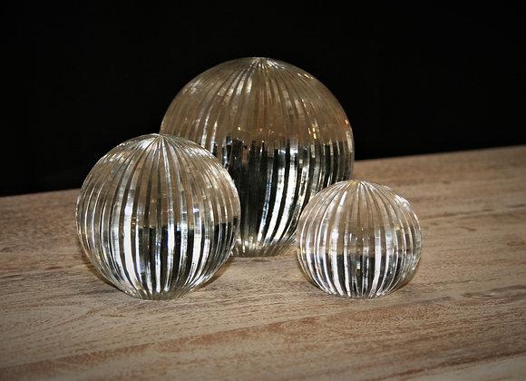 Line design glass ball set