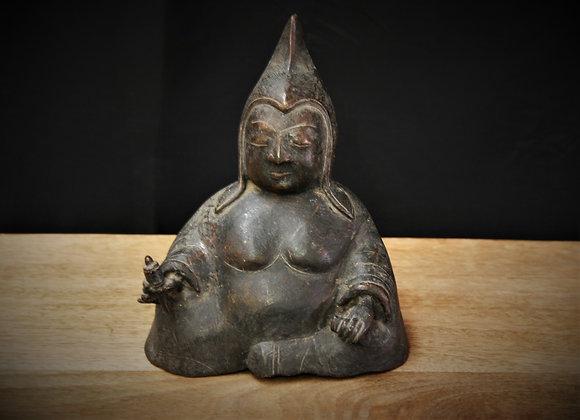 Mystery bronze Tibetan statue