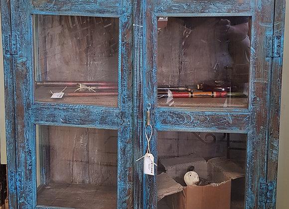 vintage blue  patina cabinet